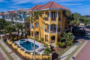 Home located on corner lot on 1st Tier with Gulf Views from east west and south