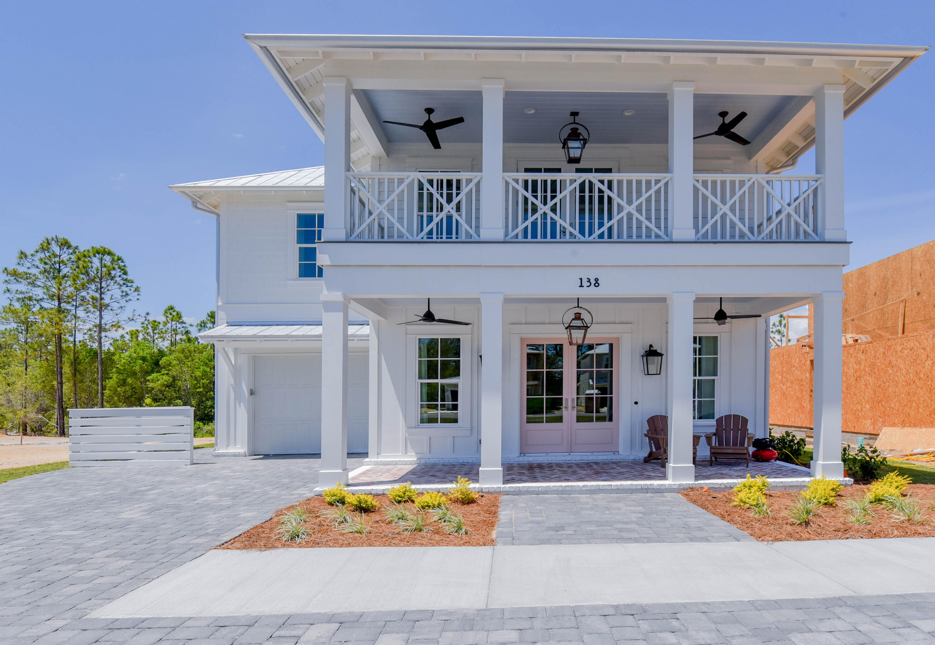 100% Complete - Brand New Construction.  Short walk, bike ride, or drive to multiple beach access points. The Cottage Grove Community delivers luxury coastal living with peace and privacy.  Nestled 1 mile off 30a and 1 mile from Hwy 98.  This gated community DOES NOT ALLOW short term rentals!  The exceptional open floor plan provides ample space to entertain and relax.  Do you desire quality?  This home has just that: 2X6 Construction, KitchenAid appliances, brick and fiber cement siding, quartz countertops, engineered hardwoods throughout, cabinets have soft close drawer and doors as well as go to the ceiling, crown molding, large bar with beverage refrigerator, 10' ceilings, 8' doors, and so much more. Screened in back patio wired for your TV.Community pool, cabana, BBQ grill