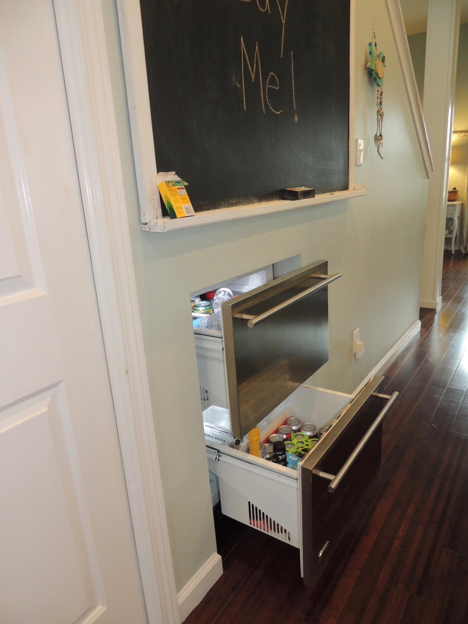 open refrigerated drawers
