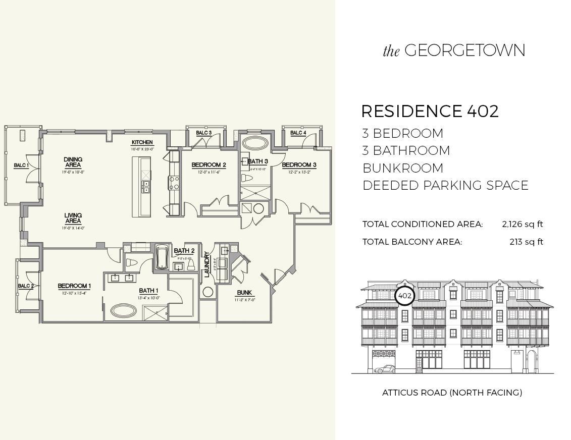 Unit #402 Floor Plan