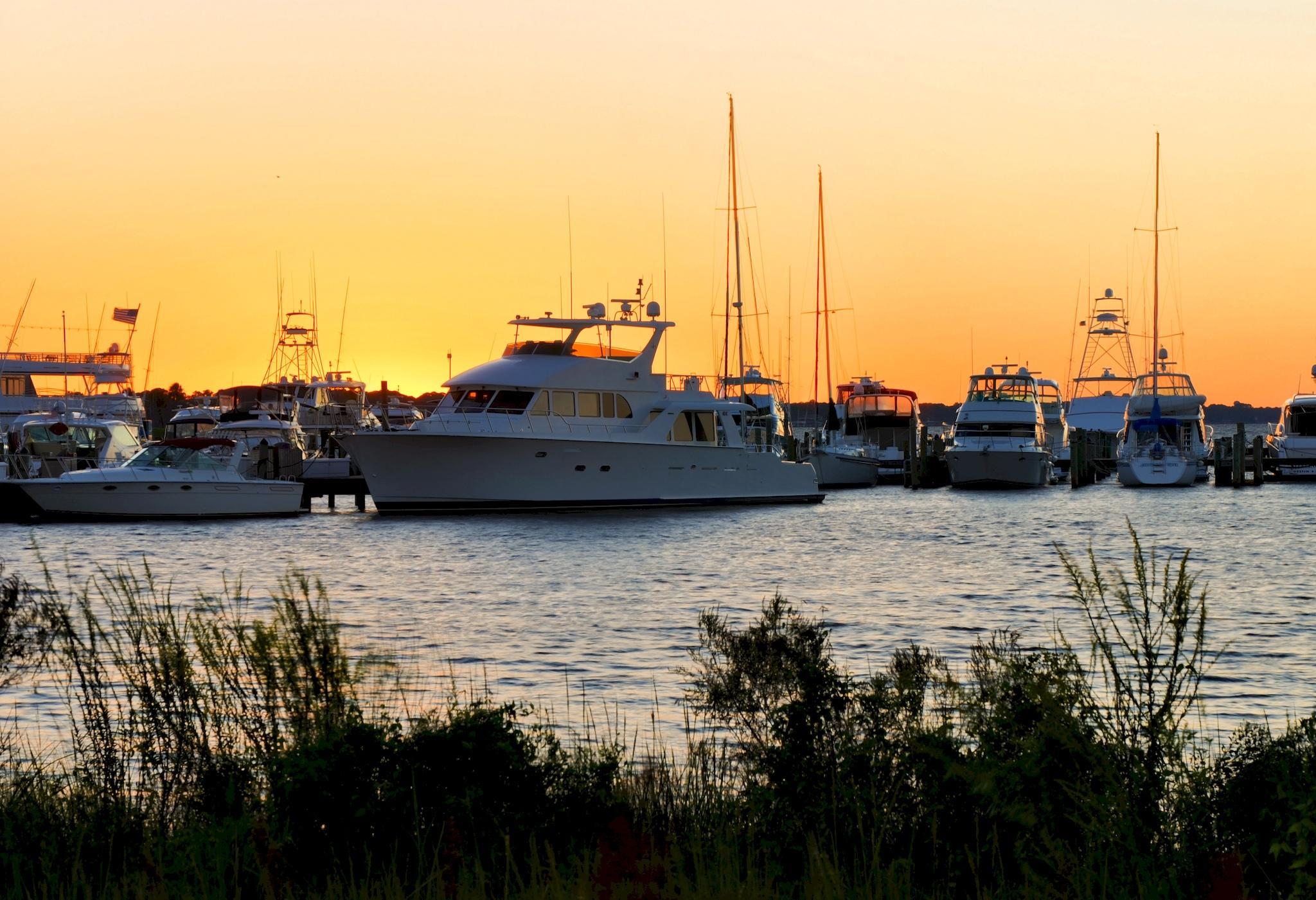 Baytowne Marina at Sunset