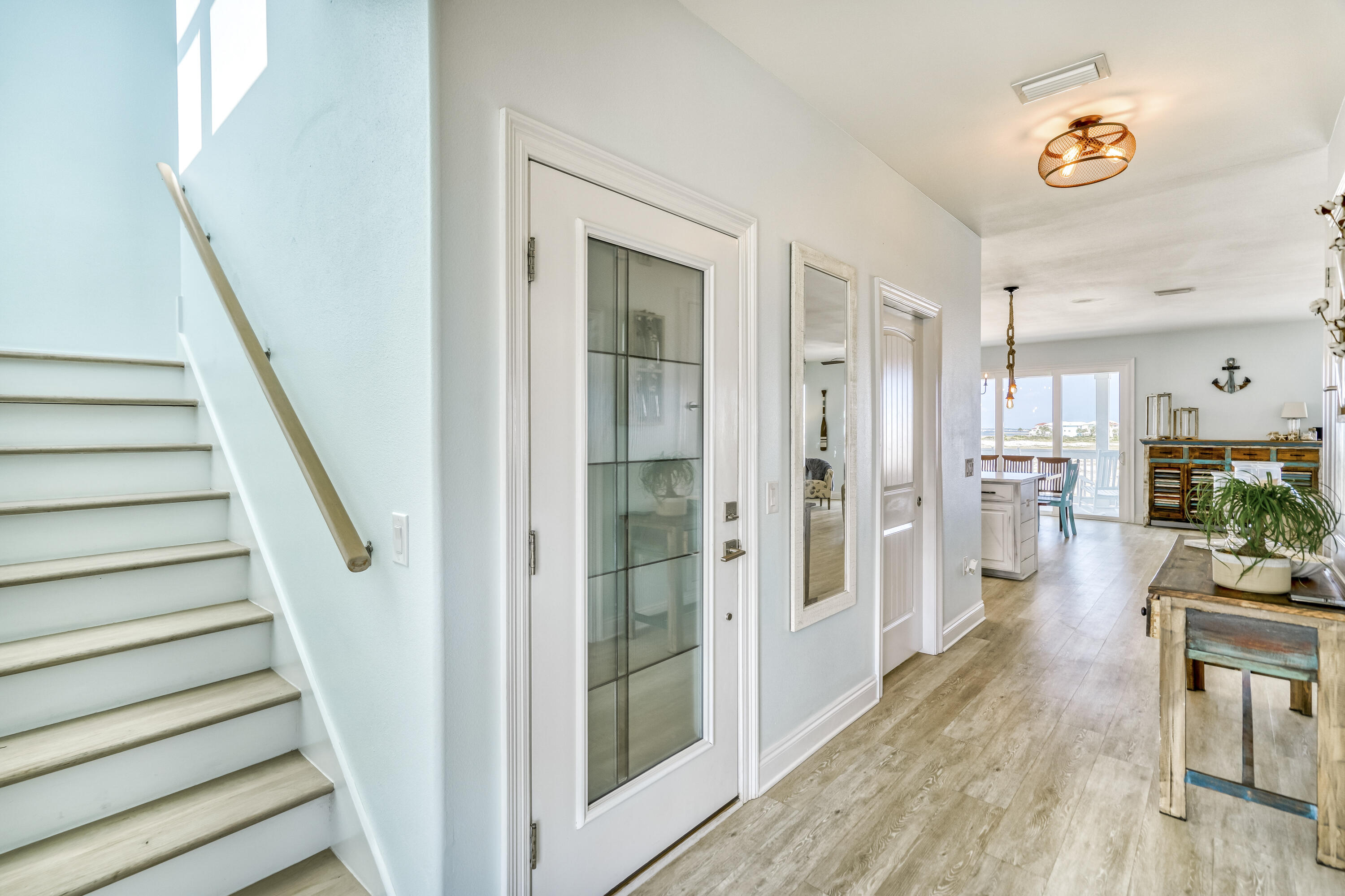 ENTRY FOYER - STAIRS TO THIRD FLOOR