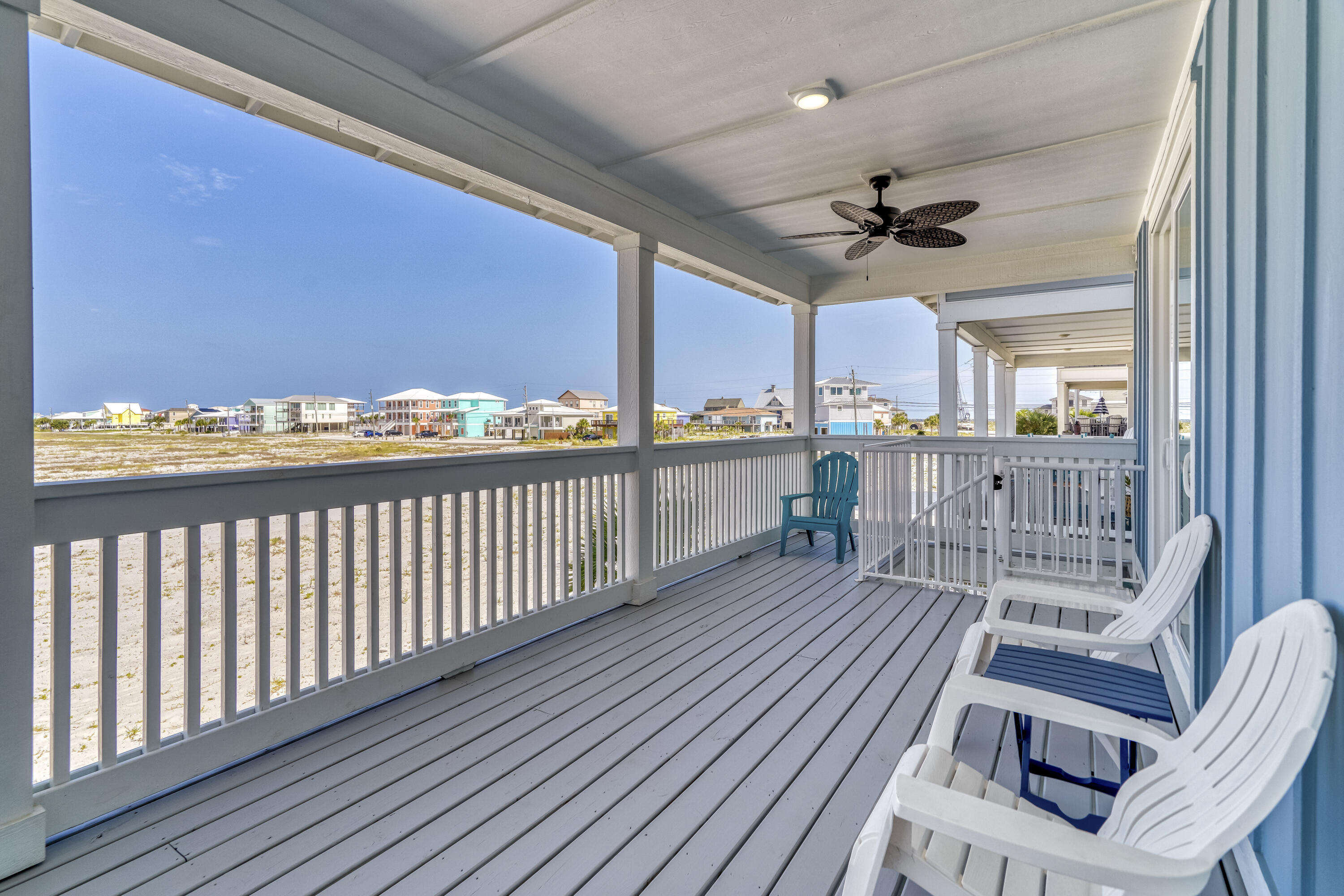 EAST DECK WITH GULF VIEWS