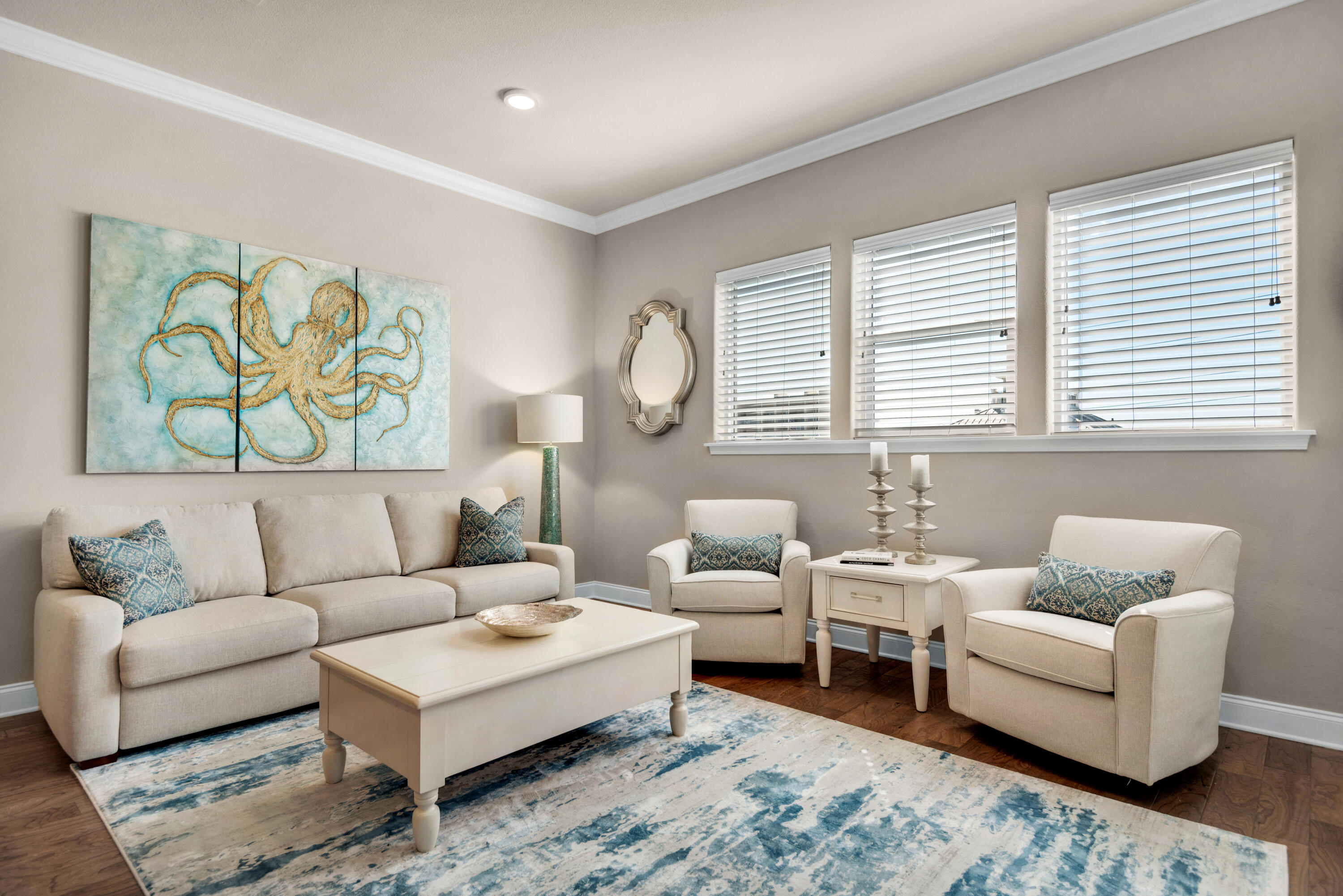 Prominently positioned directly across the street from the Gulf of Mexico, this fully furnished turnkey condominium is located FRONT ROW in the most desirable building C. Alerio C304 offers three spacious bedrooms, two bathrooms and can comfortably accommodate up to nine guests. Notable features include 10 ft ceilings, granite countertops, wood floors throughout, stainless steel appliances, private balcony with stunning gulf views, and less than a two-minute walk to the beach. Located in the heart of Miramar Beach, Alerio features a fabulous heated pool, hot tub, splash pad for kids, outdoor grilling area, and two private deeded beach accesses. Hop in your golf cart for a short ride to shopping, dining and entertainment along Scenic 98.  Copy & paste the link for more info:  https://www.destin-palms.com/booking/alerio-c304/1769-144941.