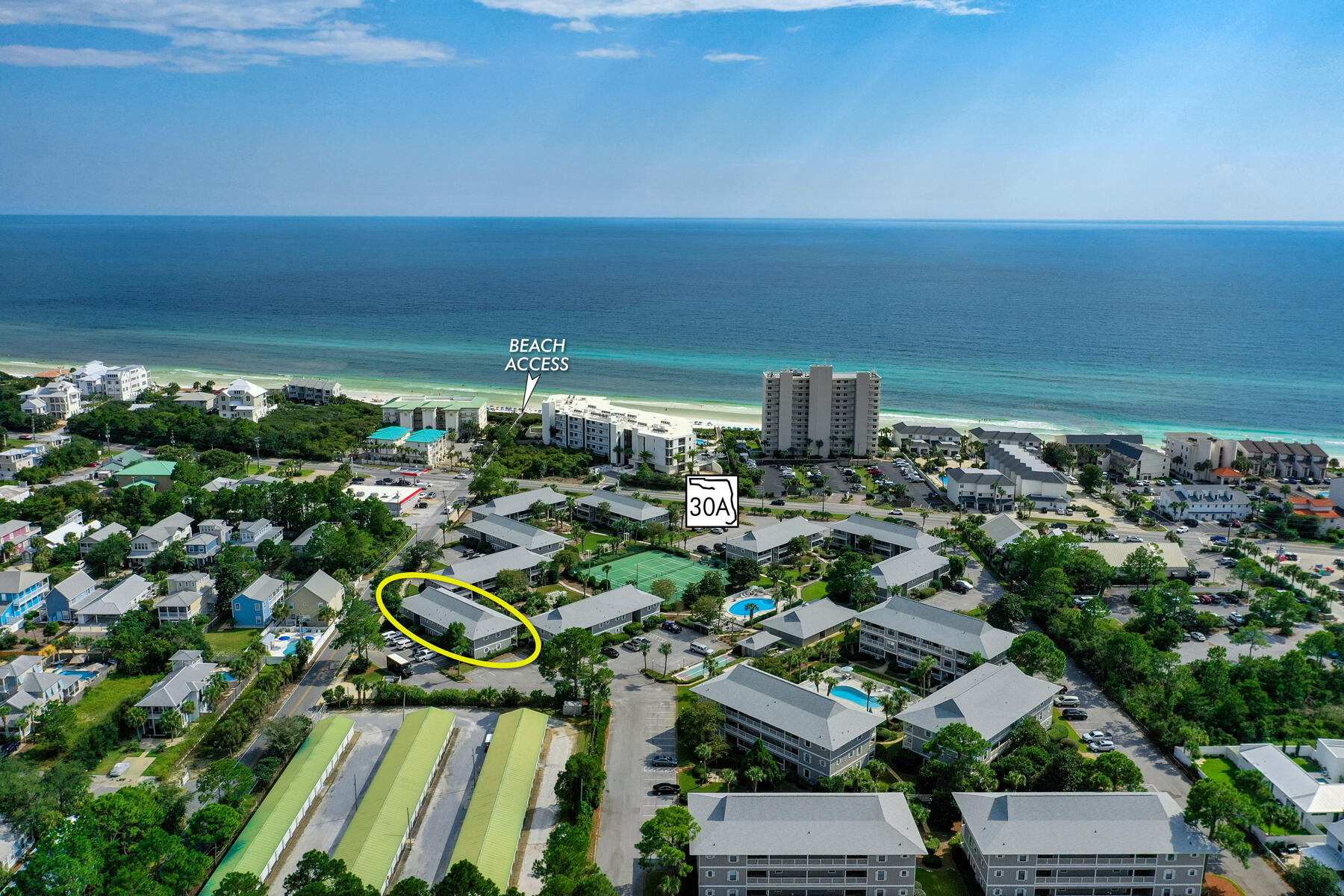This second-floor condominium is in the Beachwood Villas community of Seagrove Beach, Florida. Enjoy the centralized location and proximity to all venues, restaurants, shopping, and bike paths of Scenic 30A of South Walton County.This community offers a host of amenities including tennis courts, pools, and the beach is within walking distance and across the street.A great opportunity to own a second home or a vacation rental!