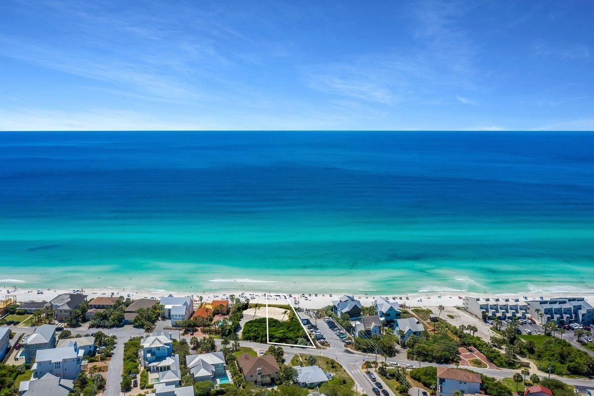 An exceptional opportunity to secure one of the only available gulf front homesites on all of 30A, boasting an impressive 90'+ of frontage on historic Blue Mountain Beach Road and extending over 350' to the mean high water line of the Gulf of Mexico. This property is perched at a high elevation (over 23' above sea level) and equipped with a functioning seawall (extending over 50' in length on the gulf side) for optimal storm protection. This exemplary site offers a generous building footprint that should accommodate a compound style home yielding multiple garage stalls and 50' of vertical height providing panoramic gulf vistas. This location also yields unobstructed western vistas including year-round sunsets as well as close proximity to world class restaurants, organic grocery as well as the outstanding communities of Seaside and Grayton Beach. Situated directly south of Highway 83, there is direct access to Highway 98 offering easy ingress and egress on and off Highway 30A. This property is currently occupied with a nostalgic beach cottage that will be removed prior to closing. Mature gardens & natural foliage that has been maintained and growing for decades provide an abundance of privacy and serenity on this rare gulf front homesite.