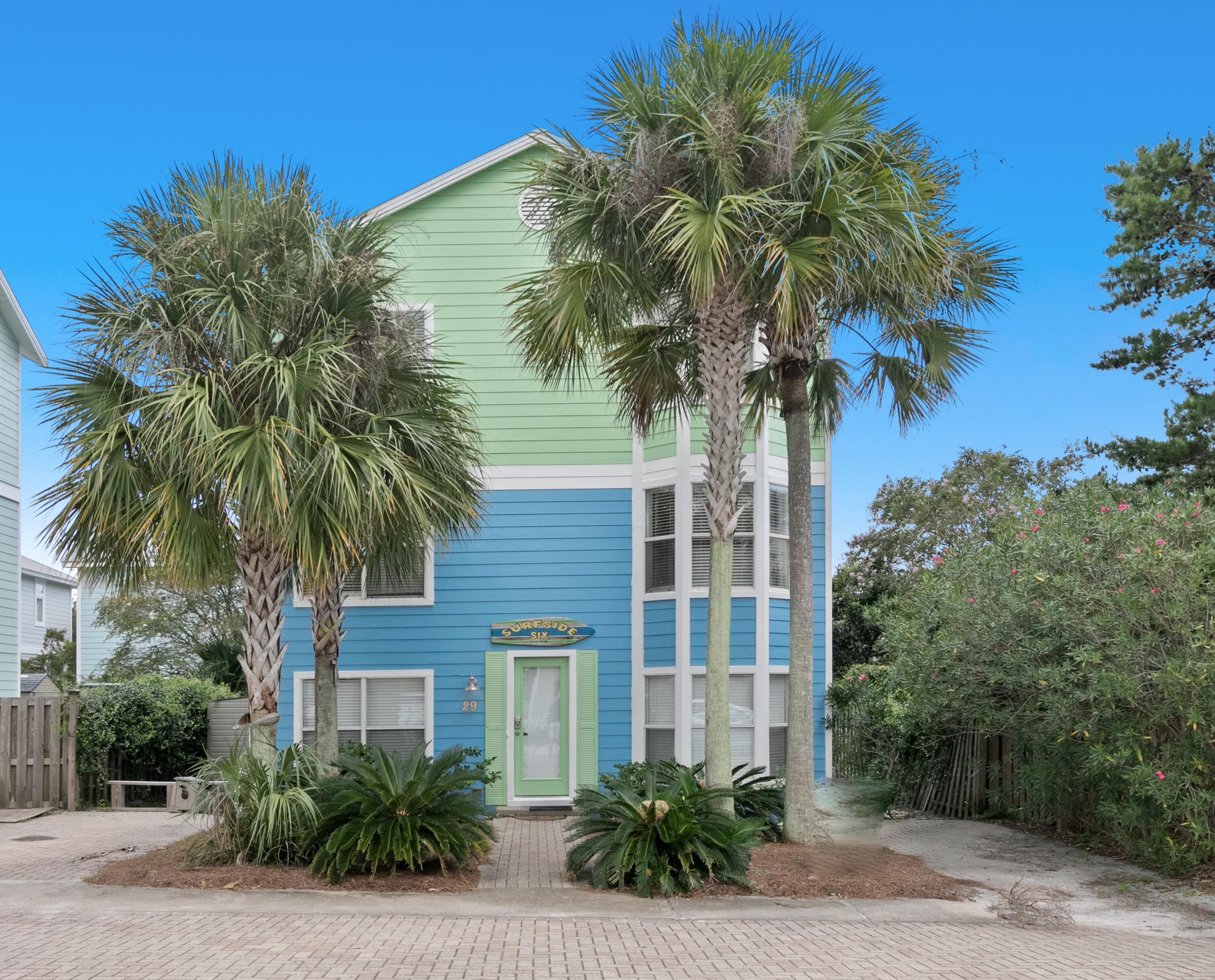 Fabulous LOCATION SOUTH OF 30A. This beautifully well maintained home is a short walking distance to the beach just off 30-A in Blue Mountain Beach. The location is a quiet street with no thru traffic that dead ends to the forest. This 4 bedroom home has en-suites for each bedroom and a half bathroom downstairs. It is fully furnished and ready to move your family in. It has great rental potential with the ability to do short term rentals in this neighborhood. Enjoy easy beach access, along with the community pool/fitness center access at The Villages of Blue Mountain Beach across 30-A. This is a great investment opportunity or new home for your 30a lifestyle. If your looking for a laid back neighborhood with kind people and a peaceful lifestyle, come see 'Surfside Six'! It is a true gem.