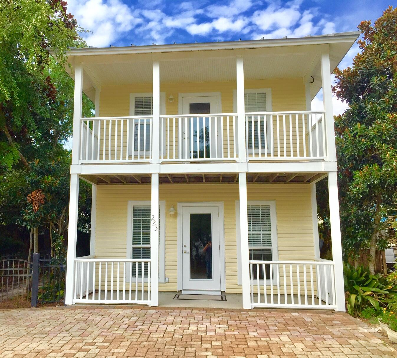This Cottage on the South Side of 30A is ready for your Beach Vacation! A Full Kitchen, Living Room and Dining Area are downstairs with a Utility Room and 3/4 Bath. Upstairs are Two Bedrooms and a full bath. Both bedrooms have walk in closets, and the front bedroom has a covered balcony for relaxing! Or use the Deck in the Backyard for Grilling. Great location on Thirty A and no HOA! Come see this newly renovated home before it's gone!