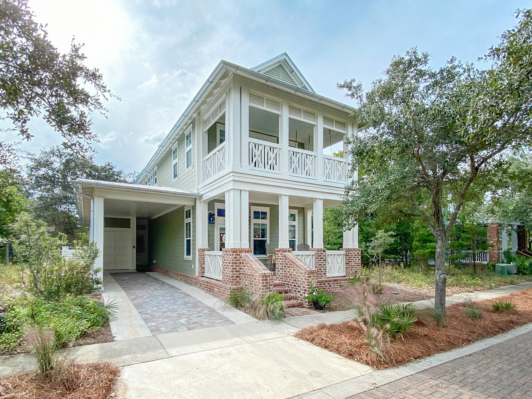 Accepting Backup Offers Relax at this beautiful home in Forest Lakes along beautiful 30A. With two master suites - one on each level - and two additional bedroom suites, this inviting home has ample room for the whole family and makes for a fantastic vacation home or primary residence. The main level features an open floorplan. The living room, dining area, and kitchen all flow together making for a great gathering place. The kitchen is a chef's dream with a Wolf range, wine cooler, two sinks, and large island that seats six. The downstairs master suite is tucked quietly towards the back of the house. The upstairs master suite is spacious and features a private porch with a large couch swing - a lovely place to sip your morning coffee or settle in with a good book. Both master baths feature soaking tubs and separate showers. Two guest suites are also located upstairs, one with two sets of bunk beds, the other a king bed. This home features stunning finishes, furnishings, and serene coastal décor. Forest Lakes is a gated community just minutes from the beach and has amenities including a two-tiered pool, gathering pavilion with outdoor kitchen and fireplace, stocked lakes for catch and release fishing, playground, walking paths, and beautiful surroundings. A beautiful paradise! This home would make an excellent investment property with annual rental projections showing $92k+!