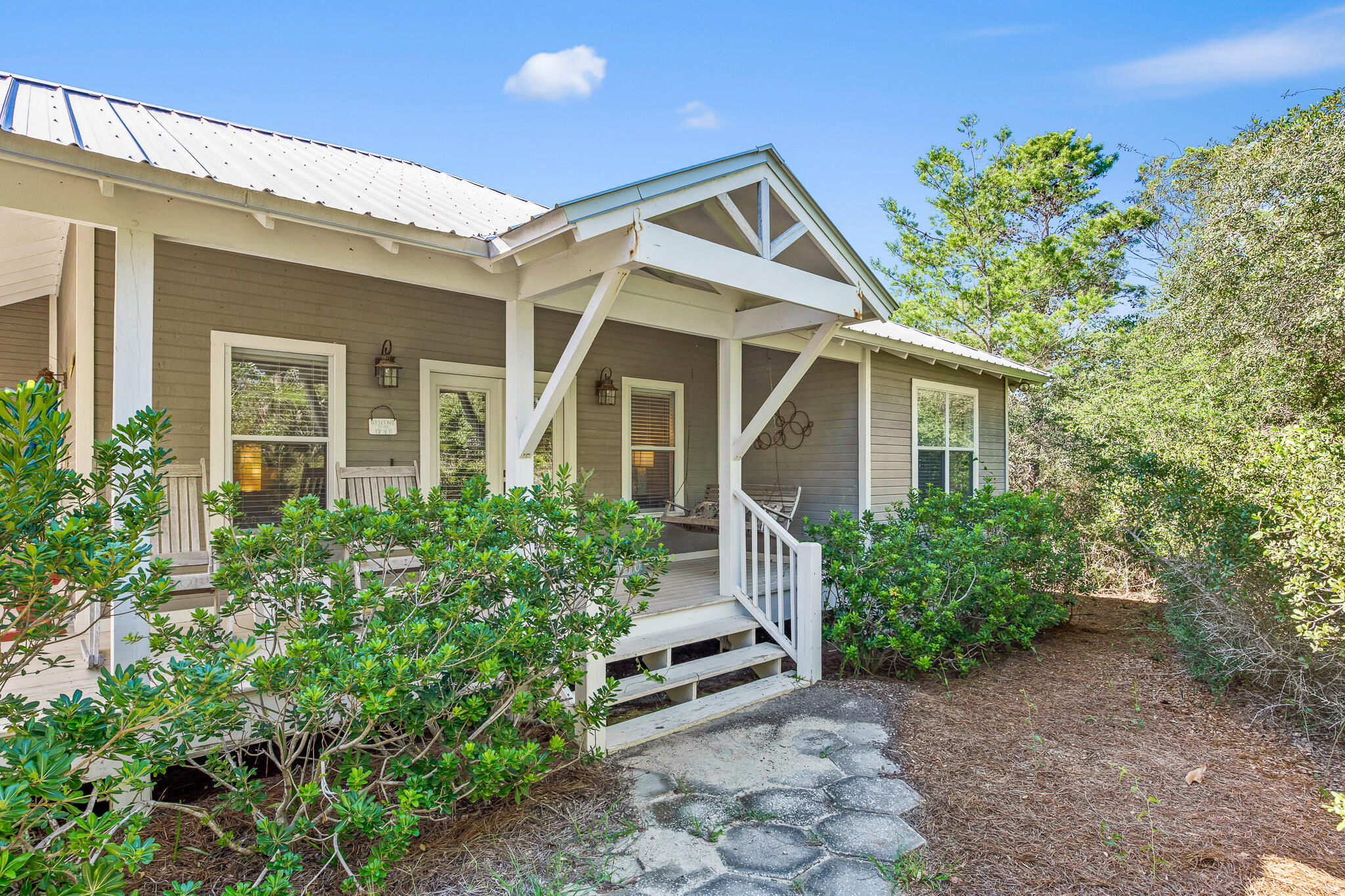 Rarely do opportunities like this come up! The perfect beach cottage in Blue Mountain Beach. This home features 3 bedrooms, 2 bathrooms, 4 neighborhood beach access points, and a private pool! The home sits on a massive 75x150 lot south of 30A located just steps away from the beach. Find out why everyone loves living in Blue Mountain Beach!Buyer to verify all information and dimensions. Information is deemed reliable but not guaranteed.