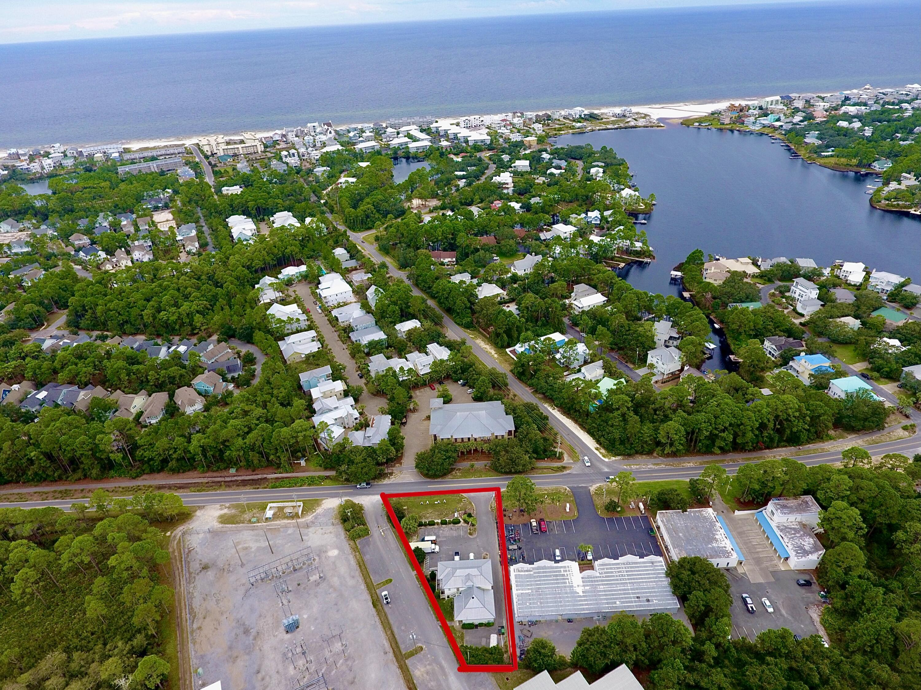 On 30A and Zoned VMU! 16 parking spaces, 3550 sqft heated and cooled. Located just east of eastern lake. This area of 30a is booming with new construction by St. Joe development, as well as private homes all around. The proposed south walton connector from the eastern lake area to 98 could be a game changer for the local businesses here. See attached link to the county website showing the proposed connector details. This two story building is currently being used as a furnishing designer showroom as well as office space. The building has a commercial elevator that is up to date on inspections, three bathrooms, as well as a kitchenette area.County web link: www.co.walton.fl.us/DocumentCenter/View/37185/Public-Meeting-Handout_08212019