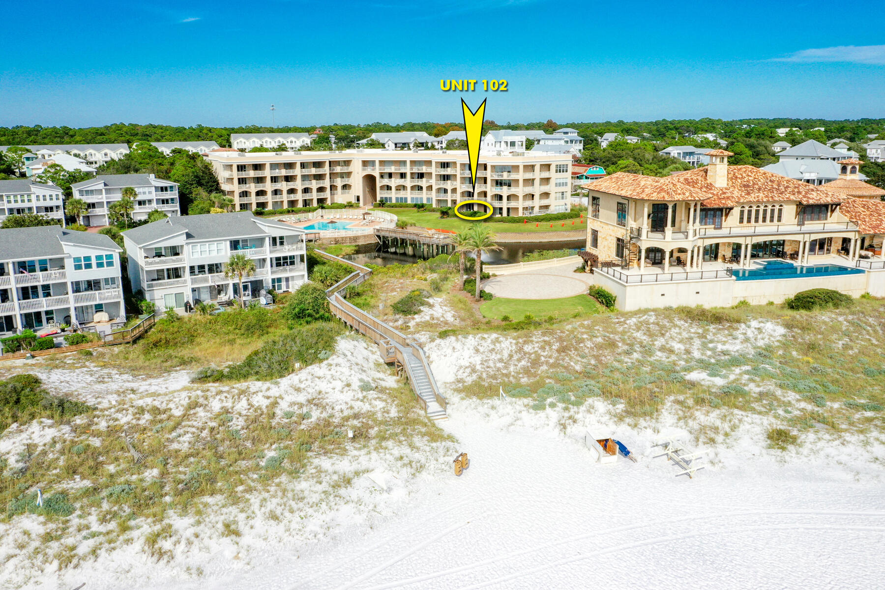 Fantastic opportunity to enjoy a fabulous condominium community with direct access to the most amazing beach in the world, along Florida's coveted Scenic 30A! San Remo owners and guests enjoy private, gated access, architecturally inspiring building, spacious floorplans, wonderful amenities, and magnificent views of the Gulf of Mexico!