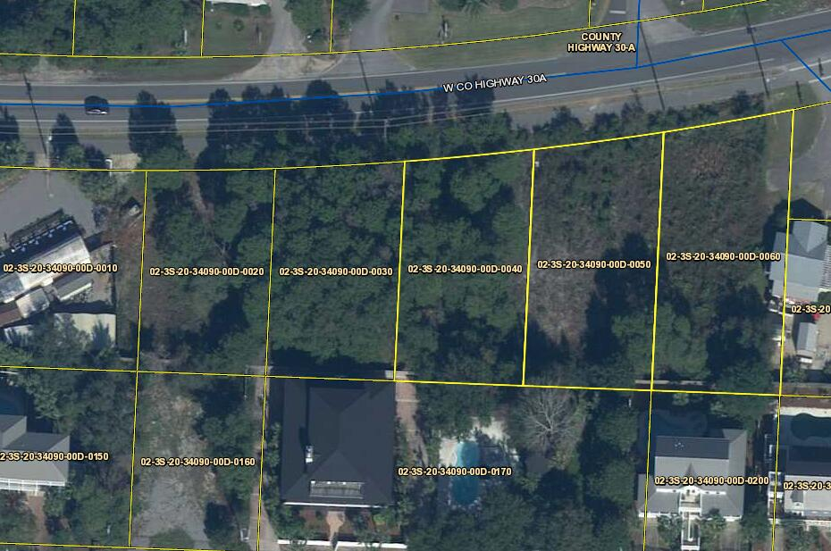 Frontage on 30A east of Goatfeathers and the Beach Access for Gulf view Heights. This lot and the joining lot are both available for your development.