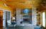Custom-built fireplace room with views of Lake Superior
