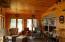 Custom built fireplace room off main living area
