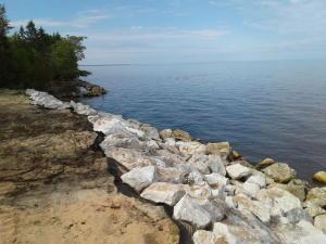 200ft of rock seawall