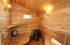 A new custom sauna off the great room is the perfect spot to unwind.