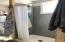Newly renovated master bath on main floor