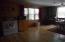 Laminate flooring in kitchen.