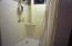 Large double headed shower in basement