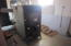 Wood stove in garage