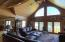 Cathedral ceiling, gas fireplace, cedar tongue & groove, and hickory hardwood floor
