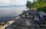 sitting area at lake