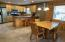 Spacious combo dining/kitchen