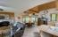 Open-concept kitchen/dining/living room on main level