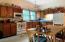 Plenty of cabinet space for great kitchen storage.