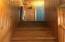 Basement stairwell.