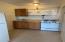 First floor efficiency kitchenette.