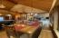 Spacious kitchen/dining spills into great room