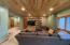 Spacious living area in walkout basement