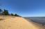 200 Feet of walkable carmel colored, sandy beach