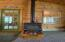 Freestanding propane stove