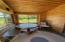 Cabin 1 enclosed porch