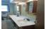 Large Bath with double sink.