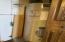 Closet in lower kitchen area