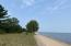 Walkable sand beach on the south shore of Lake Superior's Whitefish Bay