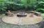 Custom stamped concrete fire pit/patio