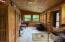 Enclosed porch with multiple windows