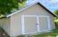 Detached storage shed. 12'x20' with double doors.