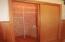 Hall Closet is lined with Cedar Siding