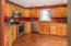 very large kitchen with abundance of sin light