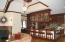 Great room, fireplace, beamed ceilings, kitchen Island