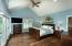 -Vaulted ceiling, plantation shutters
