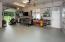 Floor heat plus gas forced air heat, overhead service garage door.