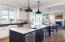 Kitchen lighting by Restoration Hardware.