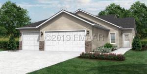 Exterior Rendering of 2112(A) sqft, 3Bedroom, 2bath, 3car garage patio home in association.
